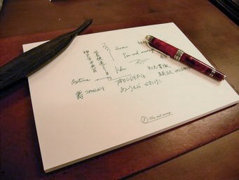 試筆用紙を作りました
