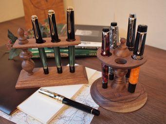 ~万年筆の遊び~ 2つのペン収納具