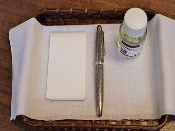 万年筆を洗う