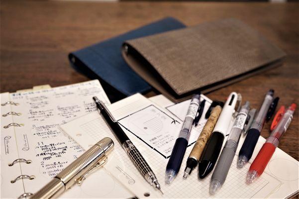カンダミサコリザード革システム手帳と筆文葉